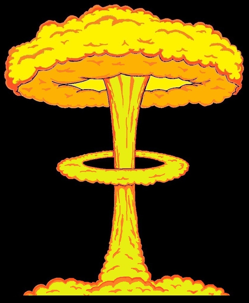 Nuclear Explosion clipart Nuclear Nuclear Drawing Bomb Explosion