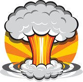 Nuclear Explosion clipart Vector Abstract Cartoon Art Graphics