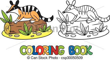 Numbat clipart Coloring book little of book