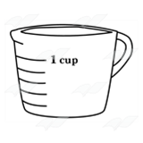 Number clipart 1 cup 1 Art Cup Glass Abeka
