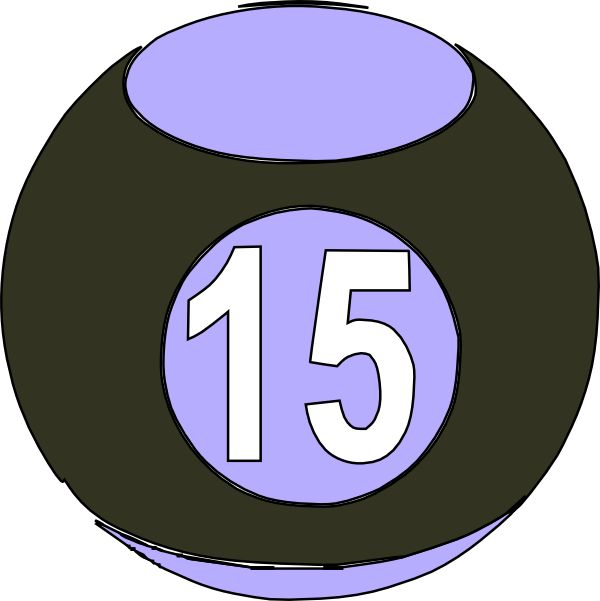 Number clipart 15th NUMBERS art of billard images