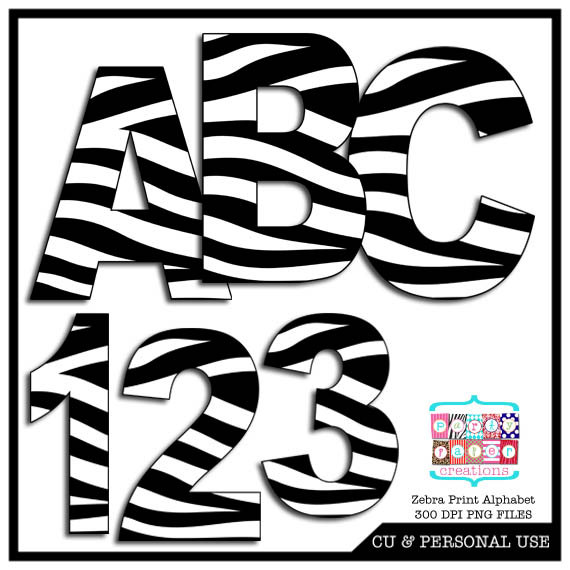 Number clipart animal number Like item? Print Zebra this
