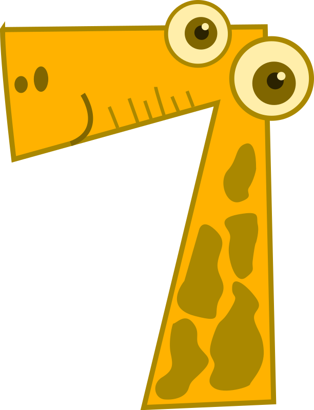 Number clipart animal number MEDIUM (PNG) 7 Clipart Animals