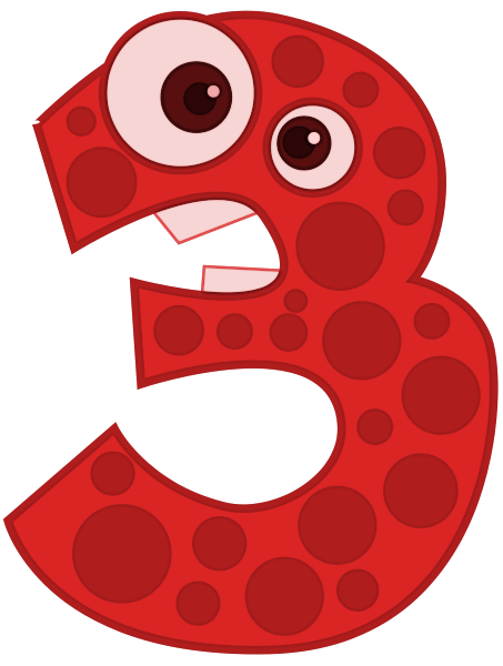 Number clipart animal number Animal 3 Numbers Animal Number
