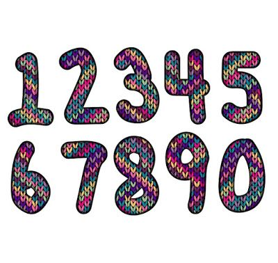 Number clipart artistic Numbers artistic set Pinterest The