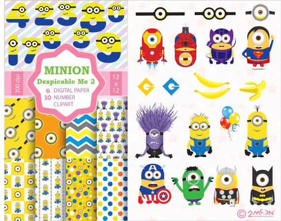 Number clipart basic Papers clipart MINION + number