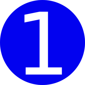 Number clipart blue 1 Number Clip Rounded with