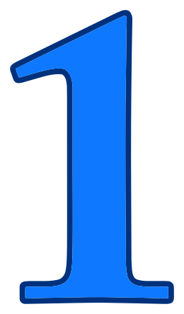 Number clipart blue Collections clipart 1 Blue 1