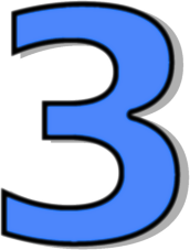 Iiii clipart three 3 Clipart Number  Blue