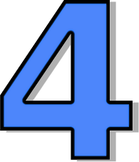 Number clipart blue  4 Art Clip Free