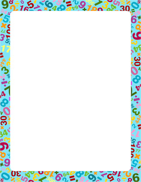 Number clipart border And great  featuring and