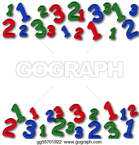 Number clipart border Number GoGraph white Drawing Drawing