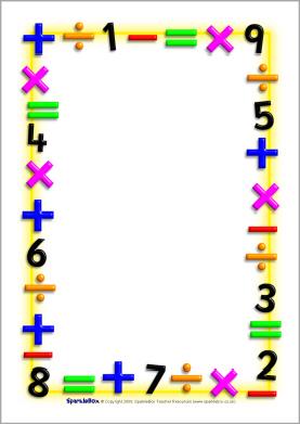 Number clipart border Clip  Borders Clipart Art