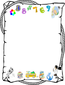 Number clipart border Clip on Page border Art