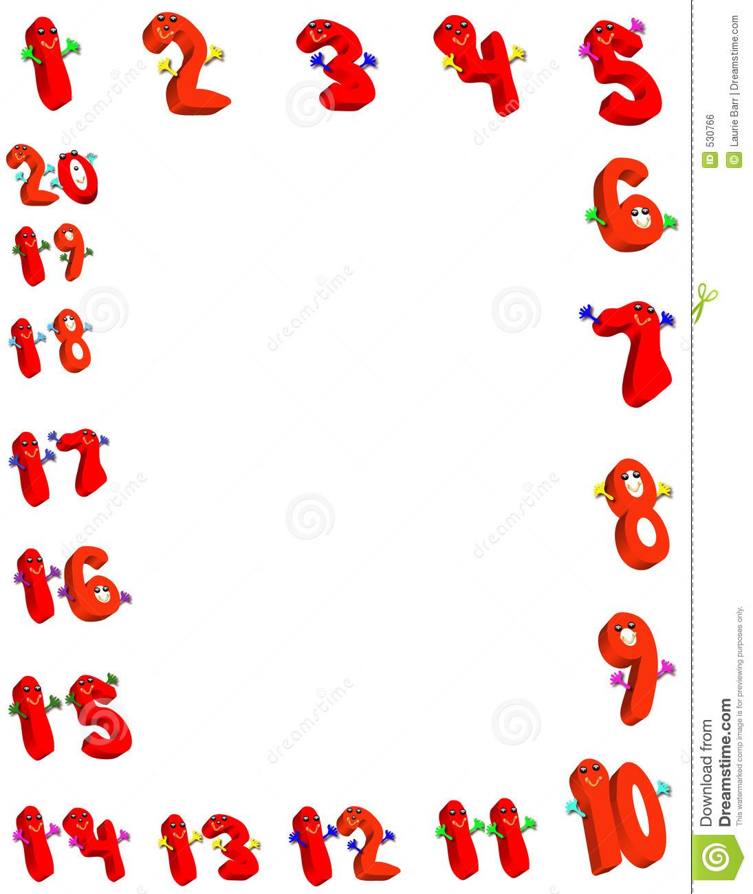 Number clipart border  Border linhas Border Number