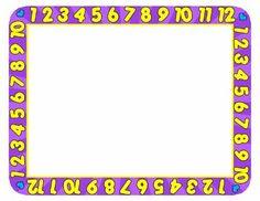 Number clipart border / Abc Art Border ABC