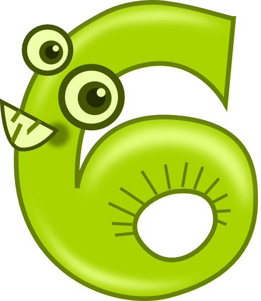 Number clipart cartoon Com art vector Animal Six