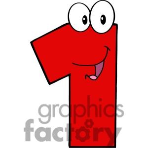 Number clipart cartoon Clipart Cartoon Number 1