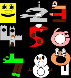 Number clipart cartoon Vector online clip Cartoon Clip