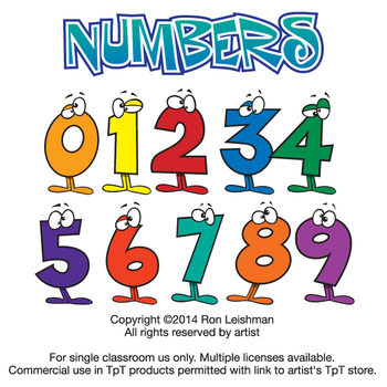 Number clipart cartoon For  Wacky Numbers Numbers