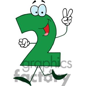 Finger clipart number 2 #7