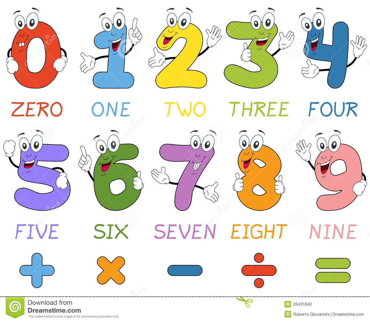 Number clipart cartoon Cartoon Clip numbers Numbers animated