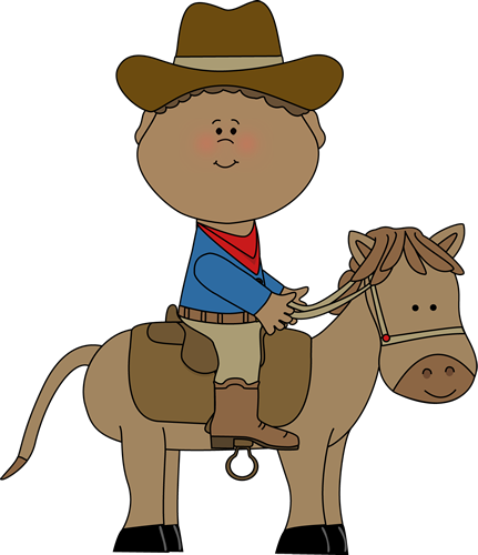 Wild West clipart cowboy horse Art on Western a Western