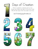 Number clipart day creation Creation 3 for clip Genesis