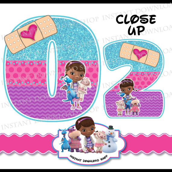 Number clipart doc mcstuffins McStuffins  digital DOWNLOWD a