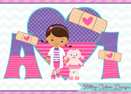 Number clipart doc mcstuffins In Set clipart HilltopCustomDesigns letters