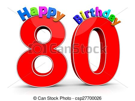 Number clipart eighty The and 80  Birthday