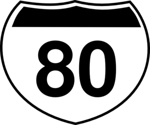 Number clipart eighty Sign online Sign Interstate at