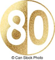 Number clipart eighty 80 free 80 number Clipart