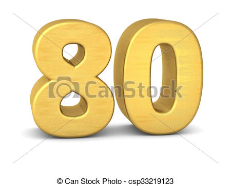 Number clipart eighty 3d royalty Number  and