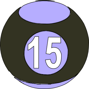 Number clipart fifteen Cliparts Art Ball Clip Billard