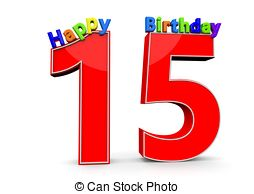 Number clipart fifteen Happy Illustrations and 15 number
