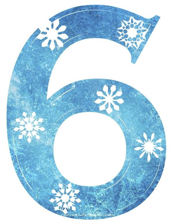 Blue clipart number 5 Clipart  FROZEN numbers Frozen