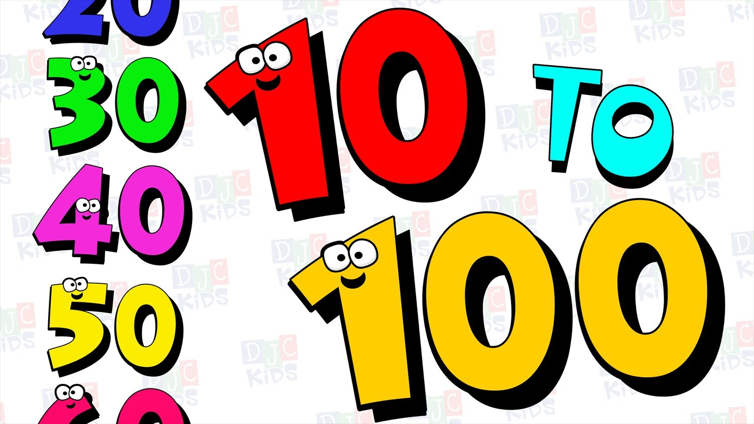 Number clipart tree 10 to 10 100 Video