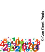Number clipart jumbled Jumbled Illustrations and 2 Numbers