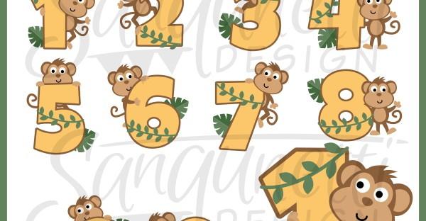 Number clipart jungle  Resolution Clipart Jungle Numbers