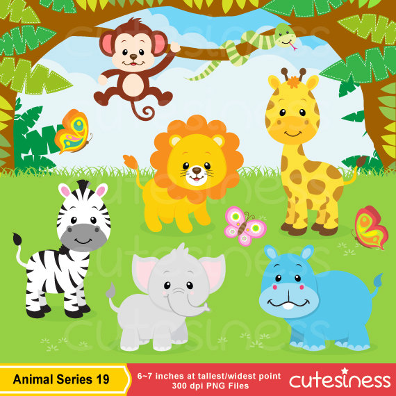 Number clipart jungle Animal Jungle Clip Animal Clip