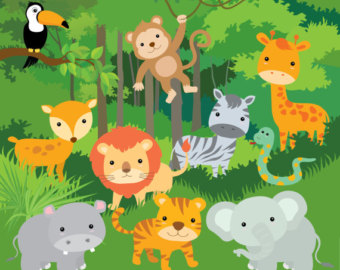 Number clipart jungle Jungle clipart 7 Jungle clipart