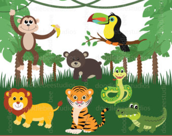 Number clipart jungle Clip Safari clipart and Friends