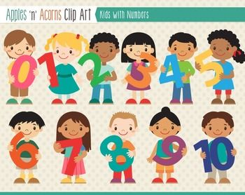 Number clipart kid number Free Clip outlines Clip Numbers