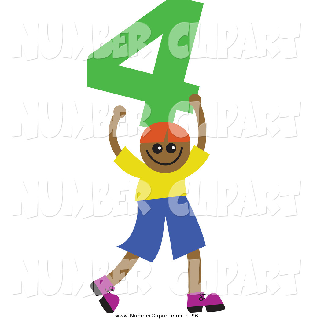 Number clipart kid number Holding Royalty Free Kid; Stock