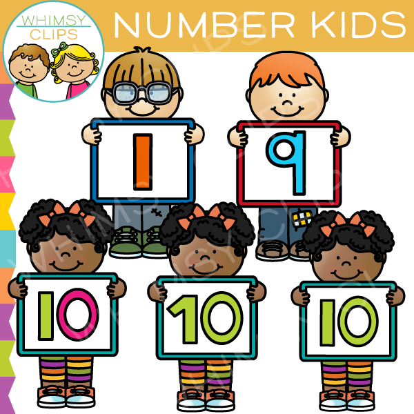 Number clipart kid number Clip Clip Clips Art Number