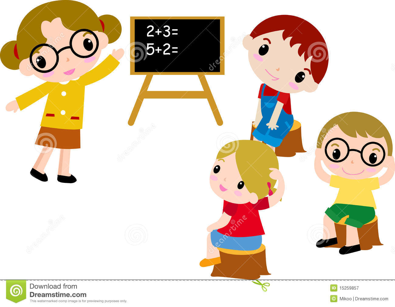 Number clipart math Children collection clipart For math