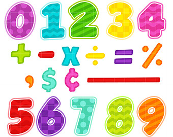 Number clipart math Scrapbooking Numbers for Making Card