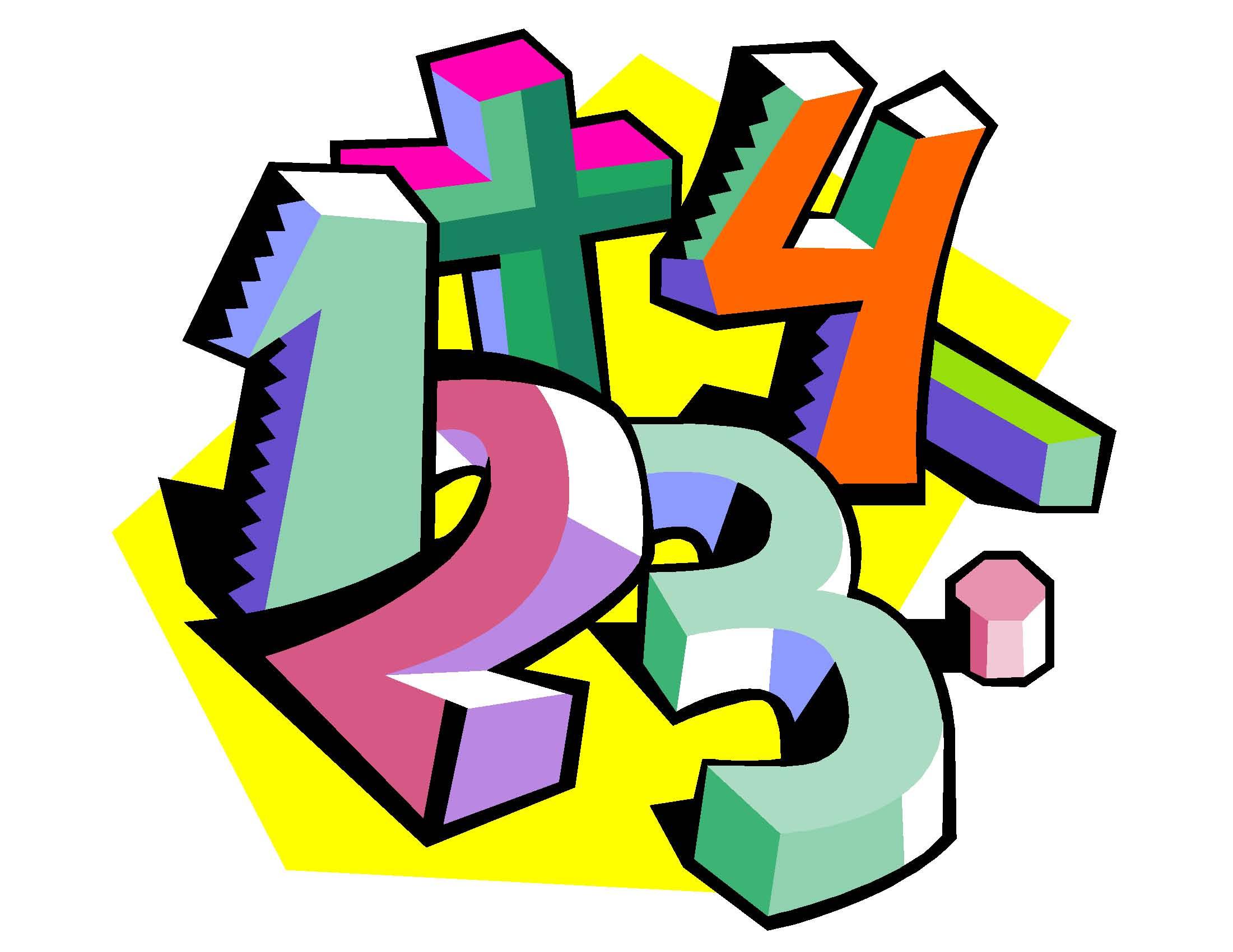 Number clipart math Fun Clipart Numbers Math Math
