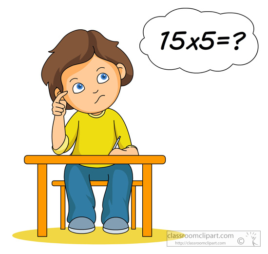 Number clipart math problem Boy 54 Search Search Pictures
